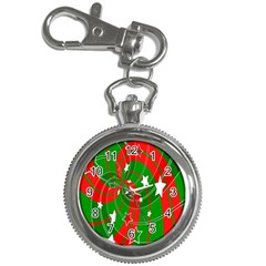 Background Abstract Christmas Key Chain Watches