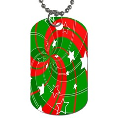 Background Abstract Christmas Dog Tag (one Side)