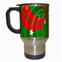 Background Abstract Christmas Travel Mugs (white)