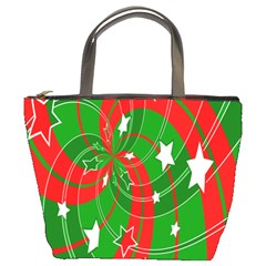Background Abstract Christmas Bucket Bags by Nexatart