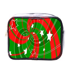 Background Abstract Christmas Mini Toiletries Bags by Nexatart