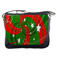 Background Abstract Christmas Messenger Bags