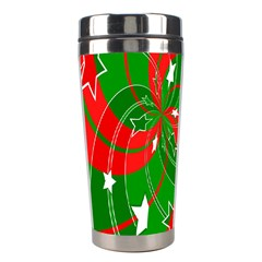 Background Abstract Christmas Stainless Steel Travel Tumblers by Nexatart