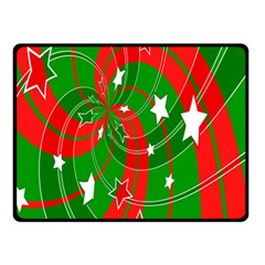 Background Abstract Christmas Double Sided Fleece Blanket (small)