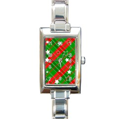Background Abstract Christmas Rectangle Italian Charm Watch by Nexatart