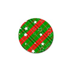 Background Abstract Christmas Golf Ball Marker (4 Pack)