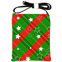 Background Abstract Christmas Shoulder Sling Bags by Nexatart