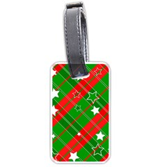 Background Abstract Christmas Luggage Tags (one Side)  by Nexatart