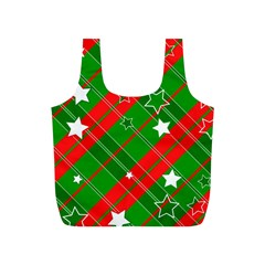 Background Abstract Christmas Full Print Recycle Bags (s)