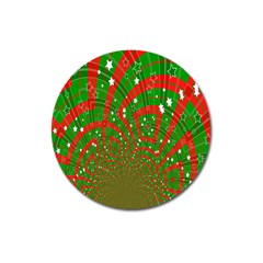Background Abstract Christmas Pattern Magnet 3  (round)