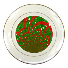 Background Abstract Christmas Pattern Porcelain Plates by Nexatart