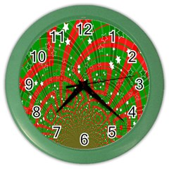 Background Abstract Christmas Pattern Color Wall Clocks