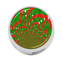 Background Abstract Christmas Pattern 4 Port Usb Hub (two Sides)