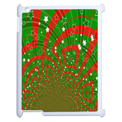 Background Abstract Christmas Pattern Apple Ipad 2 Case (white)