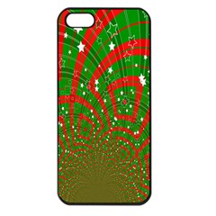 Background Abstract Christmas Pattern Apple Iphone 5 Seamless Case (black) by Nexatart