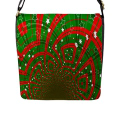 Background Abstract Christmas Pattern Flap Messenger Bag (l)