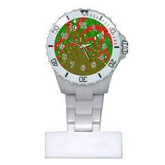 Background Abstract Christmas Pattern Plastic Nurses Watch