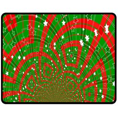 Background Abstract Christmas Pattern Double Sided Fleece Blanket (medium)