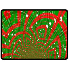 Background Abstract Christmas Pattern Double Sided Fleece Blanket (large)