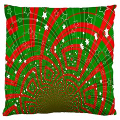 Background Abstract Christmas Pattern Standard Flano Cushion Case (two Sides)
