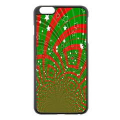 Background Abstract Christmas Pattern Apple Iphone 6 Plus/6s Plus Black Enamel Case
