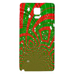 Background Abstract Christmas Pattern Galaxy Note 4 Back Case by Nexatart