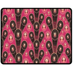 Background Abstract Pattern Double Sided Fleece Blanket (medium)
