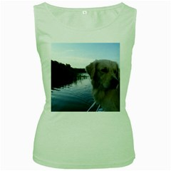 Golden Retriver 6 On Boat Women s Green Tank Top by TailWags