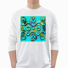 Background Braid Fantasy Blue White Long Sleeve T Shirts