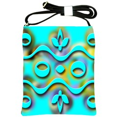 Background Braid Fantasy Blue Shoulder Sling Bags by Nexatart