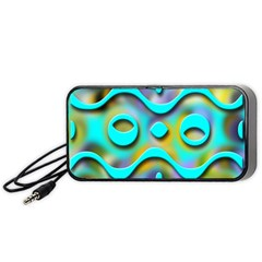 Background Braid Fantasy Blue Portable Speaker (black)