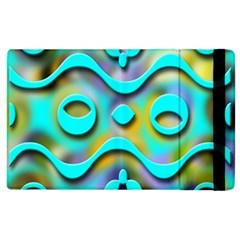 Background Braid Fantasy Blue Apple Ipad 3/4 Flip Case