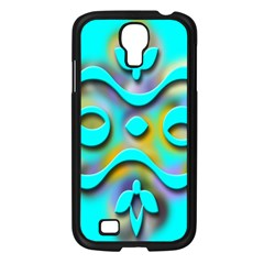 Background Braid Fantasy Blue Samsung Galaxy S4 I9500/ I9505 Case (black)