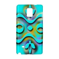 Background Braid Fantasy Blue Samsung Galaxy Note 4 Hardshell Case