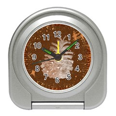 Background Christmas Tree Christmas Travel Alarm Clocks
