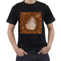Background Christmas Tree Christmas Men s T Shirt (black) (two Sided) by Nexatart
