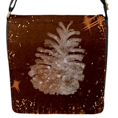 Background Christmas Tree Christmas Flap Messenger Bag (s) by Nexatart