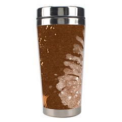 Background Christmas Tree Christmas Stainless Steel Travel Tumblers