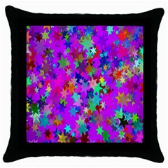 Background Celebration Christmas Throw Pillow Case (black)