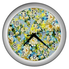 Background Backdrop Patterns Wall Clocks (silver)