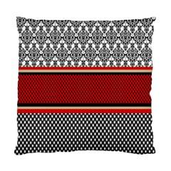 Background Damask Red Black Standard Cushion Case (one Side)