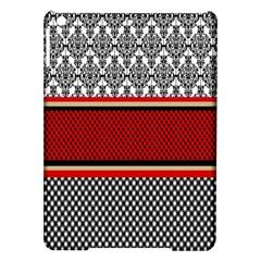 Background Damask Red Black Ipad Air Hardshell Cases by Nexatart