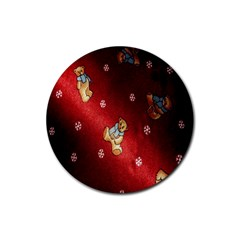Background Fabric Rubber Round Coaster (4 Pack)