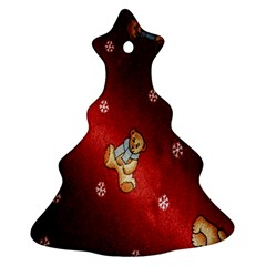 Background Fabric Christmas Tree Ornament (two Sides)