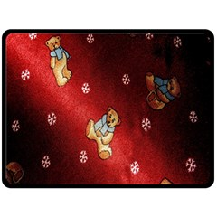 Background Fabric Double Sided Fleece Blanket (large)
