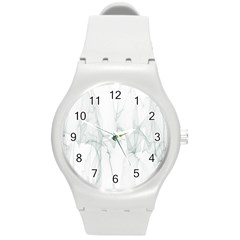 Background Modern Computer Design Round Plastic Sport Watch (m)