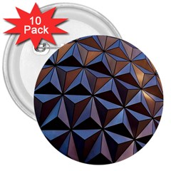 Background Geometric Shapes 3  Buttons (10 Pack)  by Nexatart