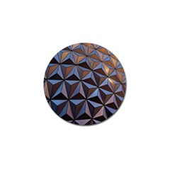 Background Geometric Shapes Golf Ball Marker