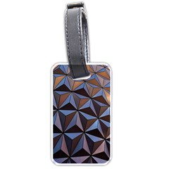 Background Geometric Shapes Luggage Tags (two Sides)