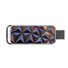 Background Geometric Shapes Portable Usb Flash (one Side) by Nexatart